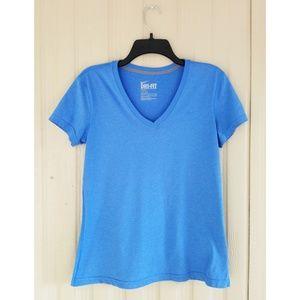Nike Dri-Fit T Shirt Short Sleeve Tee Blue Workout